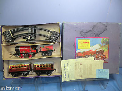 "VINTAGE HORNBY ""0"" GAUGE MODEL No.""M1"" PASSENGER  TRAIN SET VN MIB"