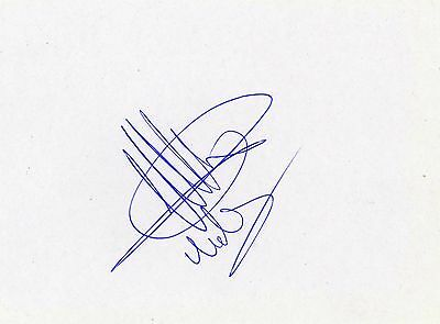 Rangers/Holland Michael Mols HAND SIGNED card