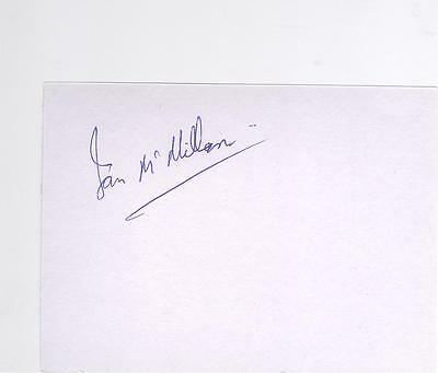 Rangers/Airdrie HAND SIGNED card Ian McMillan
