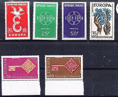 """France (7478) a small selection of """"Europa"""" stamps mint"""