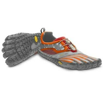 NEW Vibram FiveFingers Spyridon Women's W4135 Grey Orange Barefoot Running Shoes