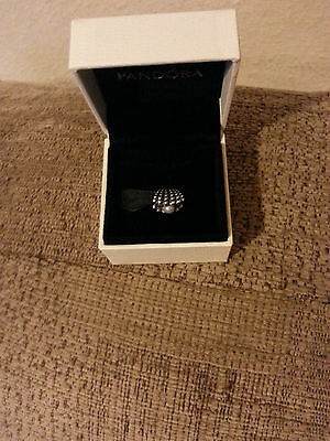 Pandora Silver Charm Clam With Pearl
