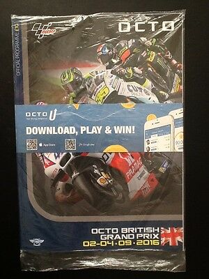 BRAND NEW UNOPENED Official British MOTO Grand Prix 2016 Collectable Programme