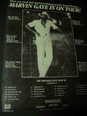 MARVIN GAYE June 23 - August 14, 1983 Tour Dates PRESERVED Promo Ad