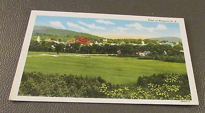 Old Postcard-  NEWPORT , NEW HAMPSHIRE   { VIEW OF TOWN}