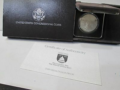 1989 Congressional Proof Silver Dollar Commemorative Set