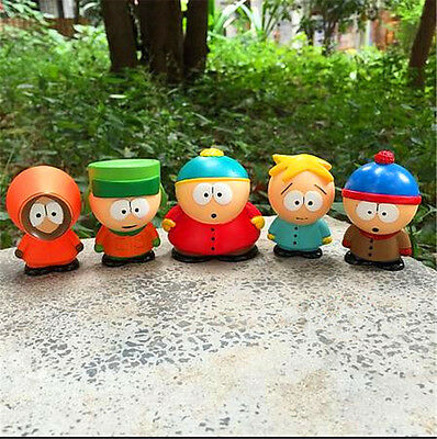 5x South Park Kyle Butters Stan Cartman Kenny Figures Kid Toy Box Birthday Gift