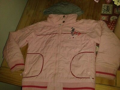 Girls NEXT pink embroidered bomber jacket 9-10 yrs
