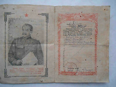 USSR 1945 Final Thanksgiven document with STALIN. Capture POLAND