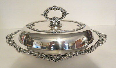 Fine Antique Vintage Wallace BAROQUE SILVERPLATE Covered Casserole Entree Dish
