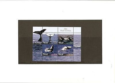 Niue Mint Stamp Miniature sheet Whale Watching