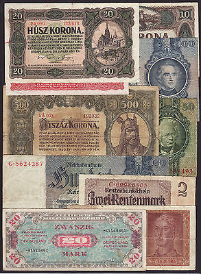 LOT OF 10 PCS.  -  HUNGARY,GERMANY  -  from circulation