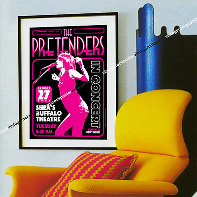 825 - the PRETENDERS - Buffalo, Us - 27 october 1981 - artistic concert poster