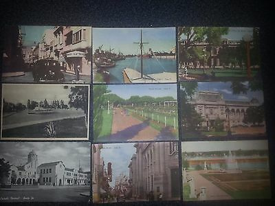 Lot of old postcards of Argentina .