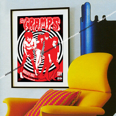827- CRAMPS - New Haven, Us - 29 may 1977 - artistic concert poster