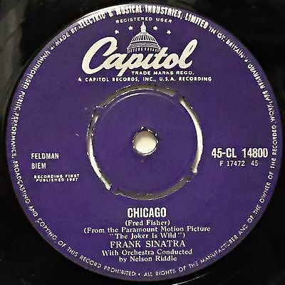 FRANK SINATRA - Chicago / All The Way .. 1957 Uk Capitol 45rpm