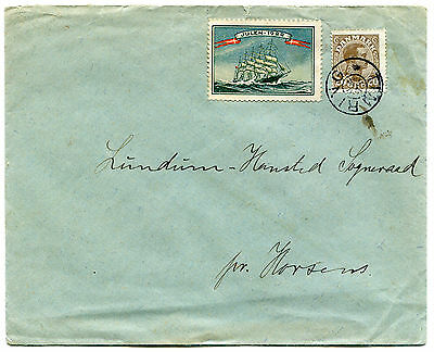 Denmark - STAR CANCEL - TIMRING on Cover with Christmas Stamp 1922
