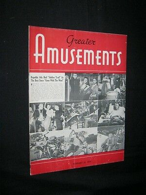 GREATER AMUSEMENTS Jubilee Trail NAKED JUNGLE Heston JUDY HOLIDAY CinemaScope