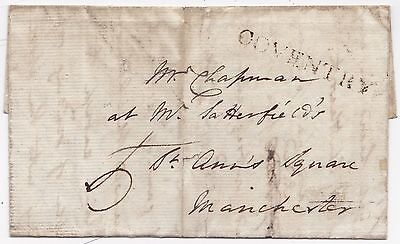 1792 Coventry Pmk Letter George Owen To Chapman St Annes Square Manchester