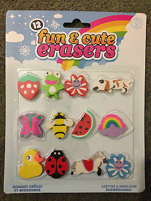 Fun Novelty Erasers Rubbers Ideal Party Bag Gift