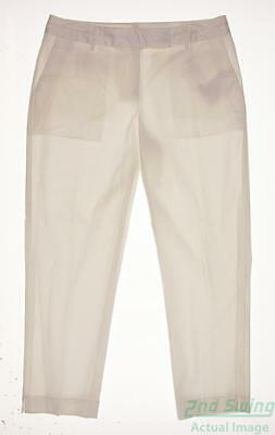 New Womens Fairway & Greene Golf Pants Size 10 White MSRP $50