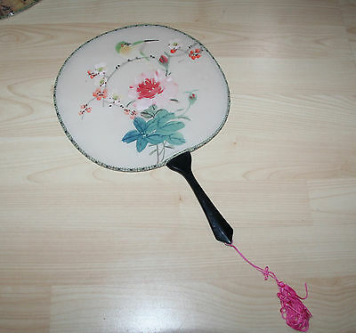 Vintage Gorgeous Hand Painted Pure Silk Japanese Fan