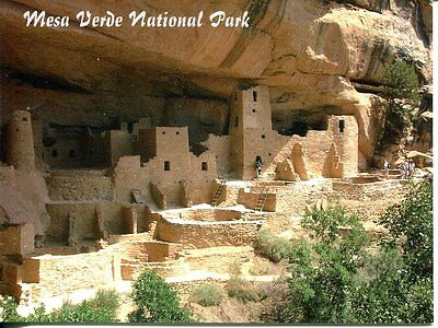 Post Card Of Mesa Verde National Park In Colorado Showing Cliff Palace