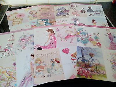 Craft Clear Out 6 X A4 Hunkydory A All The Girls Toppers Card Making  New