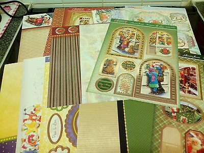 Clear Out Job Lot Hunkydory Christmas Die Cut Toppers And Backing 15 Sheets Lot2
