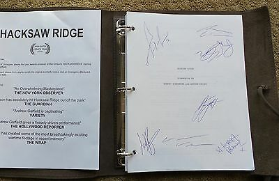 Hacksaw Ridge Hand Signed Movie Screenplay Script  Fyc For Your Consideration
