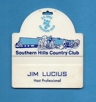 1977 U.S.OPEN    Southern Hills Country Club   Vintage  Bag Tag