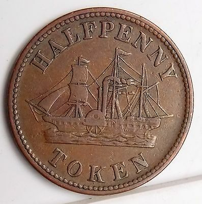 PE-8A1 Prince Edward Island Canada Canadian Fisheries Agriculture & Ship Token