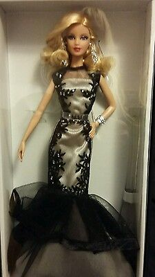 Classic Evening Gown barbie Platinum Label Black White Collection NRFB