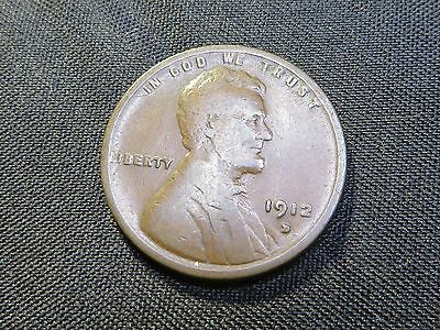 1912 - D Lincoln Wheat Cent  -   Album Hole Filler Key Date Coin