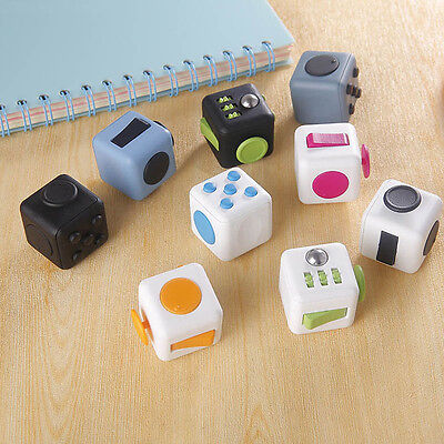 IN STOCK! Fidget Cube 2016 Xmas Children Toy Adults Stress Relief Cubes 9 COLORS