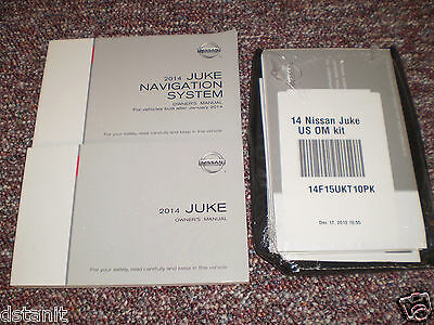 2014 Nissan Juke Complete Owners Manual Books Navigation Guide Case All Models