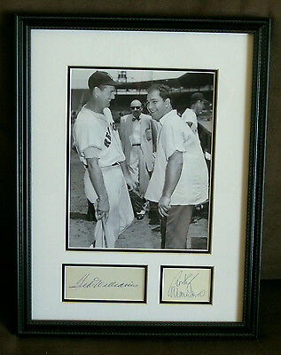 TED WILLIAMS & ROCKY MARCIANO Autograph Display-Boston Legends--PSA/DNA Approved