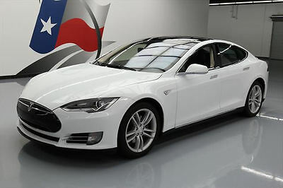 2012 Tesla Model S  2012 TESLA MODEL S 85 TECH PANO SUNROOF NAV LEATHER 44K #P01606 Texas Direct