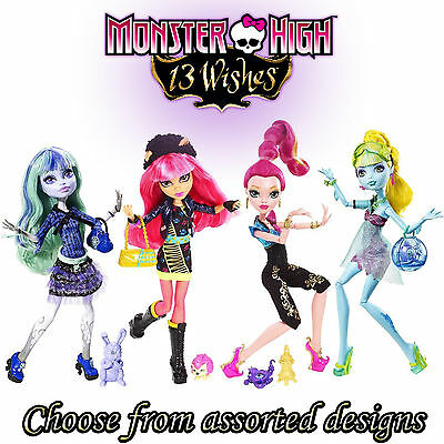 Monster High 13 WISHES Fashion Dolls /w PETS - Assorted Designs