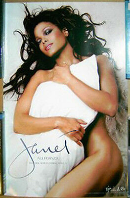 Janet Jackson All For You 2000 promo POSTER nude pose -- 11 x 17 inches