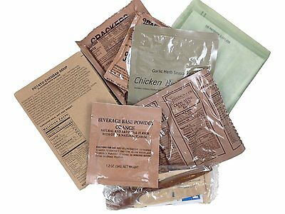 US ARMY Emergency ration MRE Meal Ready to eat Outdoor Survival Camping Menu nr.