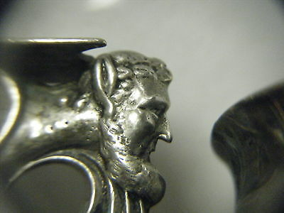Antique Neo Classical 1888 Sterling Goblet/chalice Dionysus/bacchus Hand Wrought