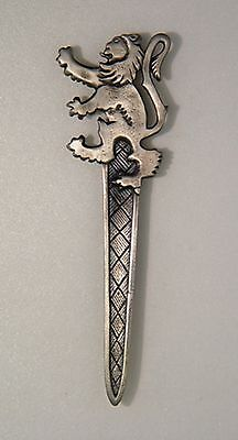 """sale Offer"" Boxed Antique  Lion Rampart  Scottish Kilt Pin 4 Kilts  Sale Price"