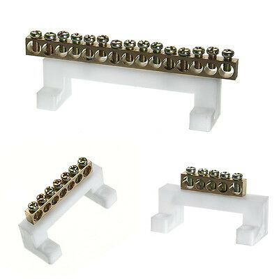 5/7/15 Positions Electric Cable Connector Screw Barrier Terminal Strip Block Bar