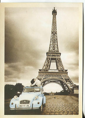 Post Card Of The Eiffel Tower In Paris France The Most Famous  Paris Landmark