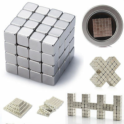 216 Magnetic Cube Square Magnet Block Puzzle 3mm 4mm 5mm Educational Toys