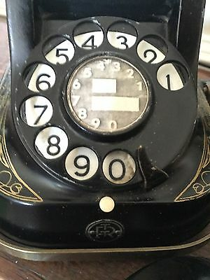Vintage Belgique RTT56B Black  Bell Telephone, GOOD CONDITION AND WORKING ORDER