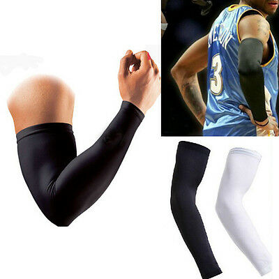 1pc Tight Sport Cover Long Sleeves Hand Arm Elbow Protector Basketball Accs 38CM