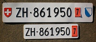 Switzerland license plate - Canton of Zürich - ZH - pair of export plates. Lot 7