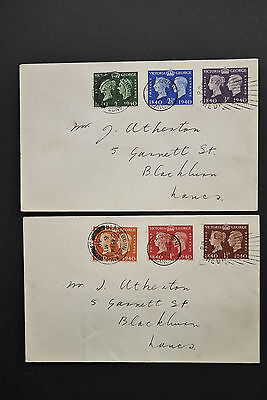 SG479 Postage Stamp Centenary 6/5/1940 Post Early In The Day Blackburn FDCs